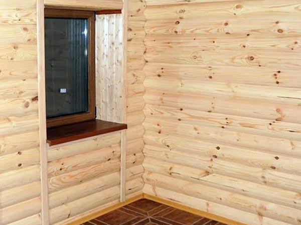 Отделка блок-хаусом внутри помещения
