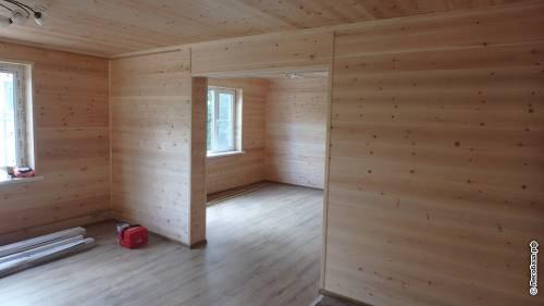 Дом, полностью зашитый деревянной вагонкой