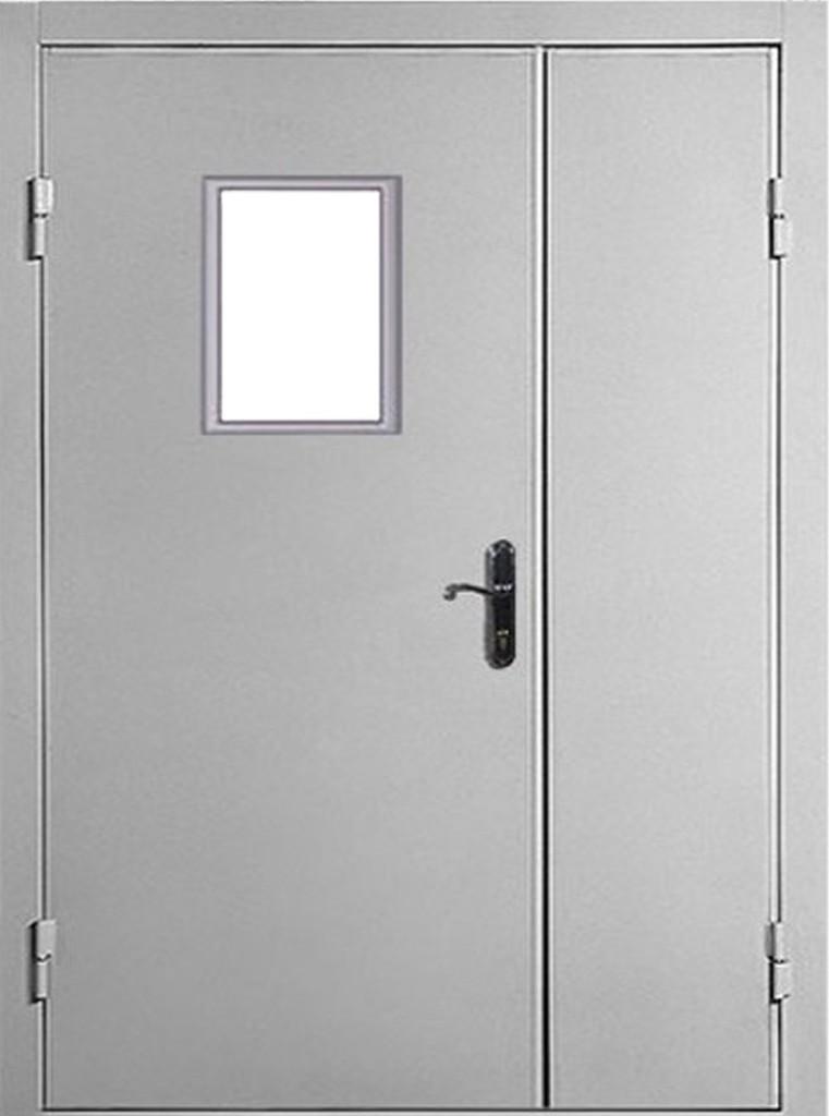 Самая простая металлическая дверь, которую можно обшить любым материалом, и в том числе вагонкой