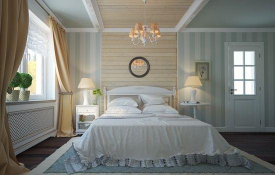 Вагонка в спальне дизайн фото