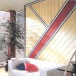 Комбинированное оформление стены