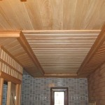 Пример, с обшивкой потолка