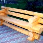 Декоративная скамейка для дачи