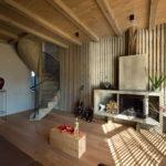 Дизайн потолка и стен с планкеном: стиль контемпорари