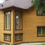 Дом с внешней отделкой блок-хаусом