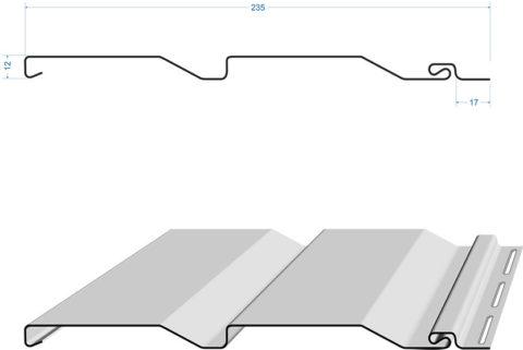 Структура и стандартные размеры длинномерного сайдинга из винила или металла