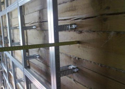 Сборный каркас может выноситься от стен на большое расстояние