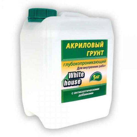 Акриловый универсальный грунт с антисептическими добавками