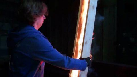 Раскрытие горящей трубы