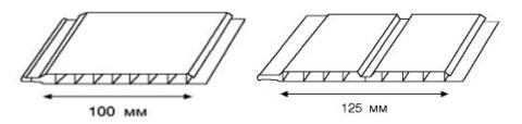 Пластиковая вагонка размеры: стандартная ширина одинарного и двойного профиля
