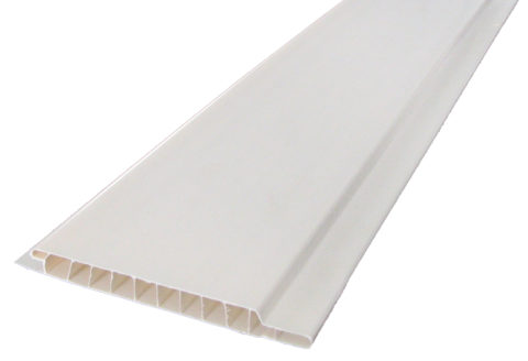 Вагонка интерьерная белая из пластика