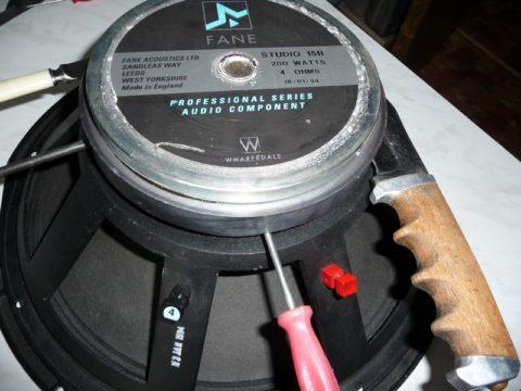 На фото показан магнит на динамике