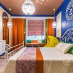 Необычное цветовое оформление спальни