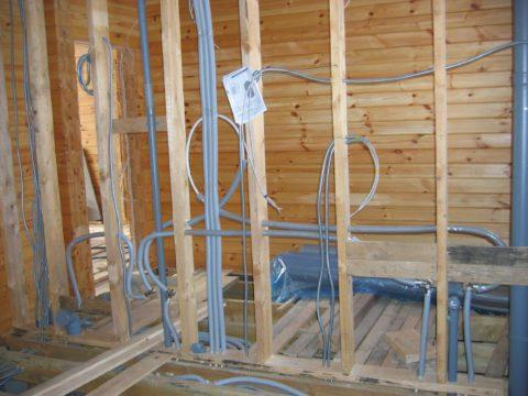 Перегородки каркасного дома могут использоваться в качестве полноценного каркаса