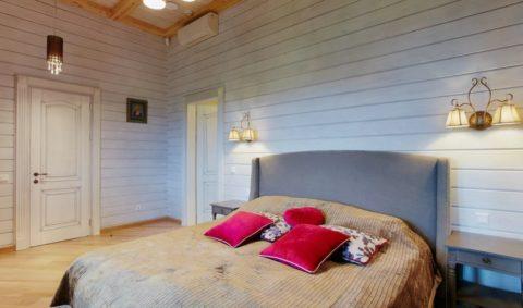 Вагонка в спальне – создаст неповторимый уют