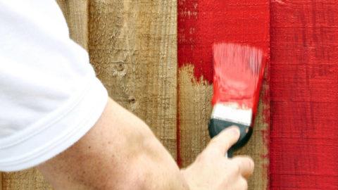 Укрывистая краска на грубую деревянную поверхность