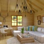 Деревянная вагонка в дизайне загородного дома