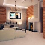Комбинирование блок-хауса с декоративными панелями